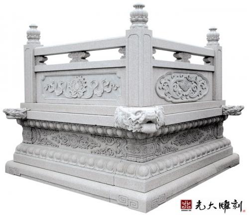 寺庙雕刻工程中其中寺庙石栏杆雕刻怎么安装?