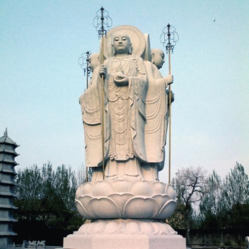武汉四面地藏菩萨雕像