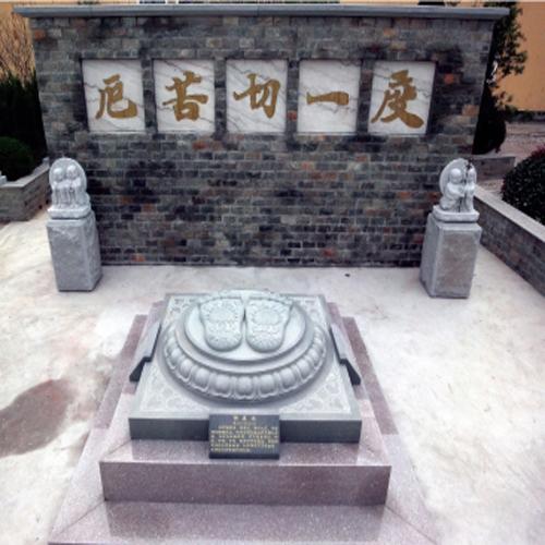 上海崇明岛無爲寺工程案例【佛足印】