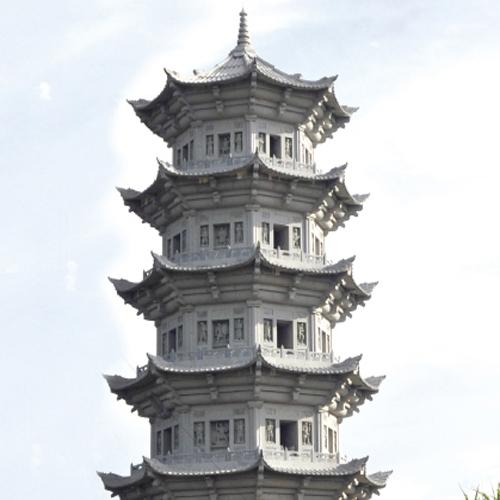 寺庙雕刻石塔