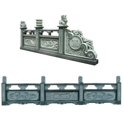 寺庙栏杆石雕