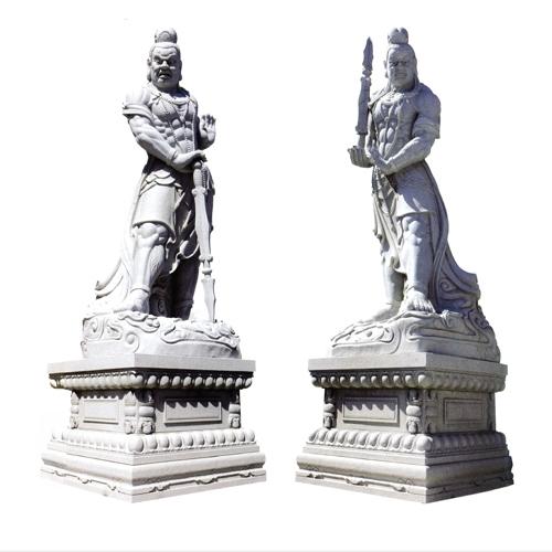 哼哈二将雕像