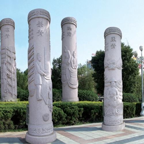 广场景观柱雕刻