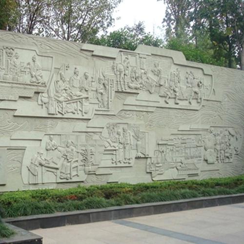 广场景观墙雕塑