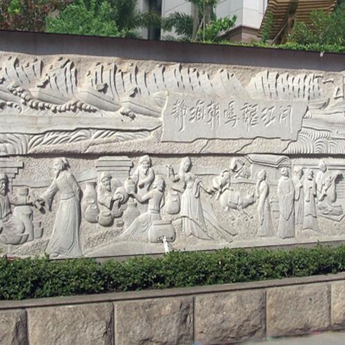 广场景观墙雕刻