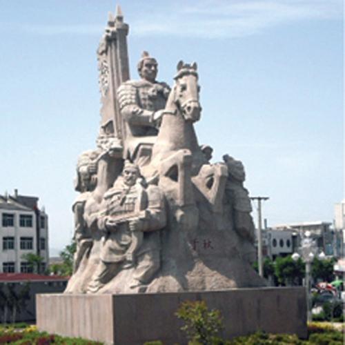 武汉城市雕塑—将军人物石雕