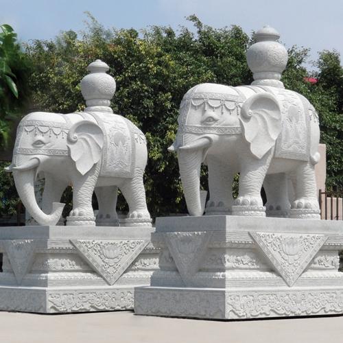 武汉城市雕塑—大象石雕