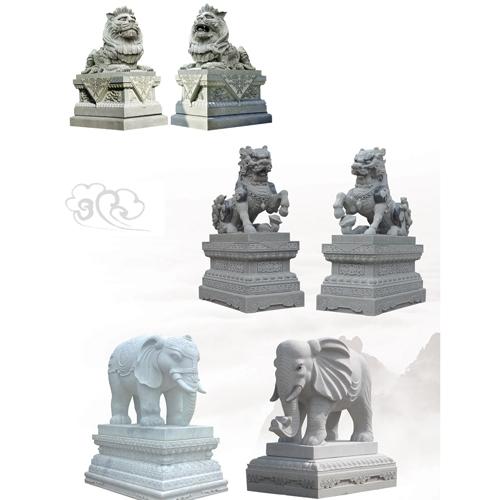寺庙雕刻神兽石雕
