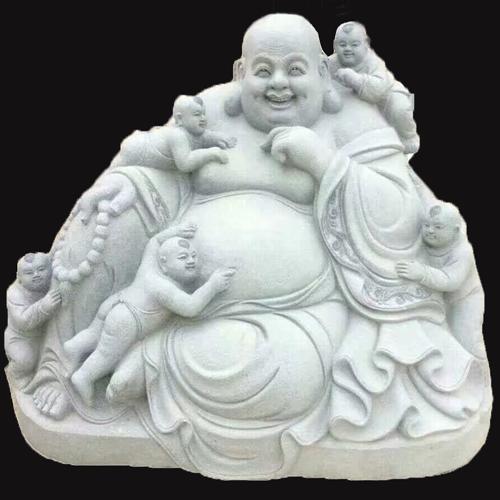 寺庙雕刻弥勒佛雕像
