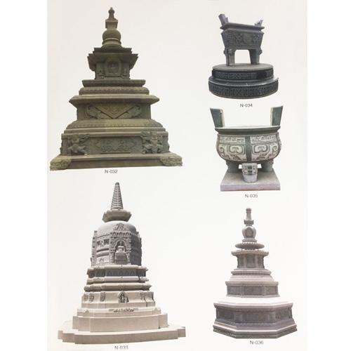 寺庙雕刻佛塔香鼎