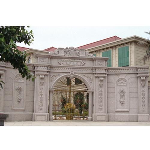 别墅石材装饰大门围墙
