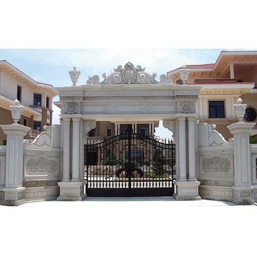 别墅石材装饰—大门