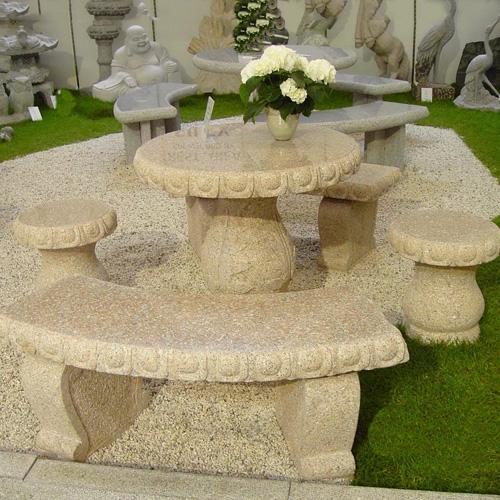 园林景观石桌椅-3