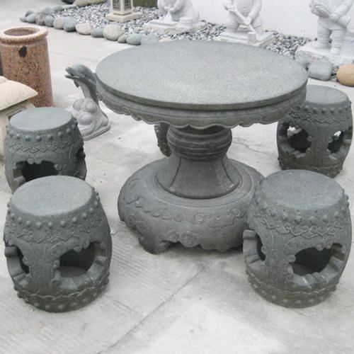 园林景观石桌椅-8